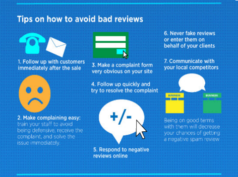 Tips on How to Avoid Bad Reviews - From Page 1 SEO Services